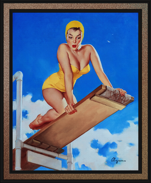 I Think Not by Gil Elvgren Pin-Up Girl Vintage Artwork by xzendor7