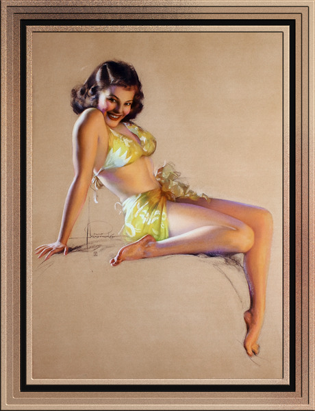 Ill Say So by Rolf Armstrong Pin-Up Girl Vintage Art by xzendor7