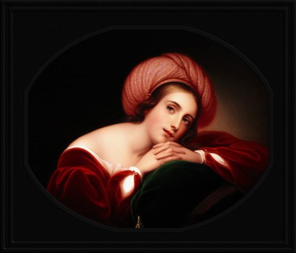 Idealized Portrait by Rembrandt Peale Old Masters Fine Art Reproduction by xzendor7