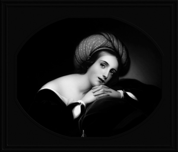 Idealized Portrait by Rembrandt Peale Black and White Xzendor7 Old Master Art Reproductions by xzendor7