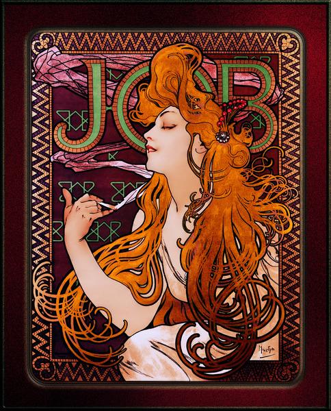 JOB by Alphonse Mucha Art Nouveau Old Masters Vintage Art Reproduction by xzendor7
