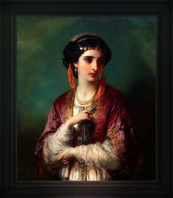 Jessica by Thomas-Francis Dicksee Classical Art Old Masters Reproduction by xzendor7