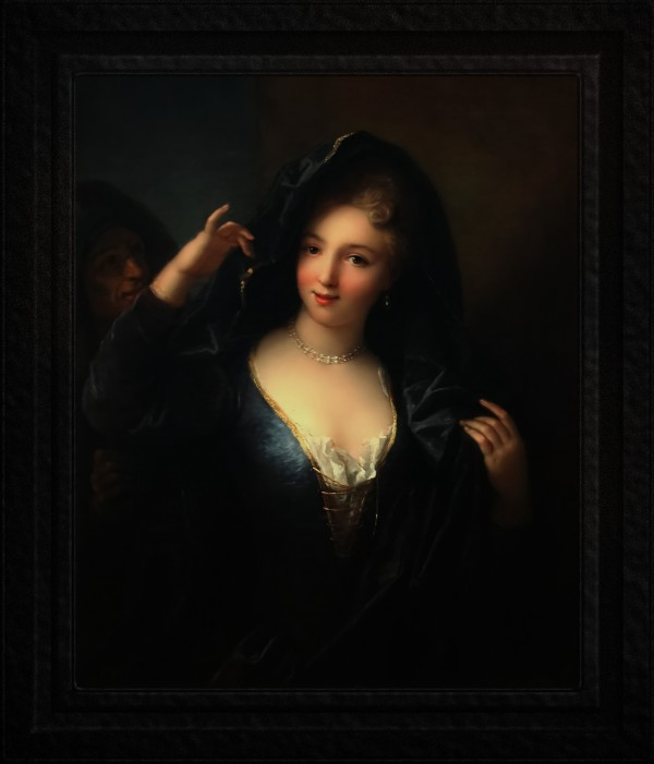 Jeune Fille Au Collier De Perles by Jean Raoux Old Masters Classical Fine Art Reproduction by xzendor7
