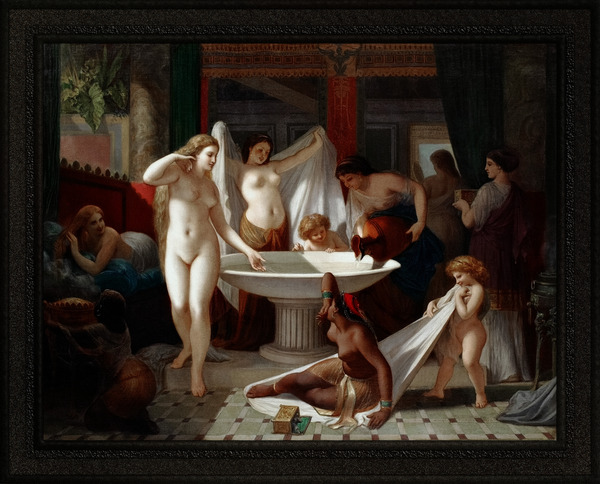 Jeunes Femmes Au Bain by Henri-Pierre Picou Old Masters Classical Art Reproduction by xzendor7