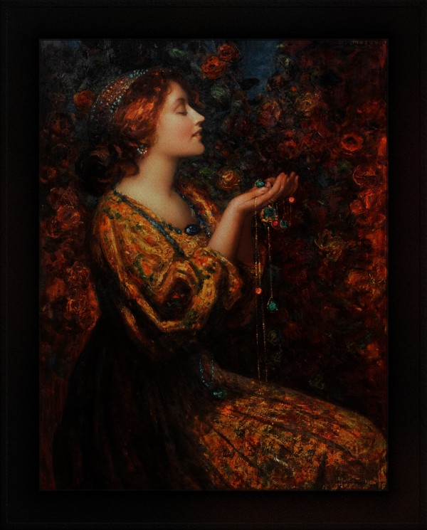 Jewels by Thomas Edwin Mostyn Old Masters Classical Art Reproduction by xzendor7
