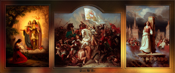 Joan of Arc Triptych by Hermann Stilke Classical Fine Art Xzendor7 Old Masters Art Reproductions by xzendor7