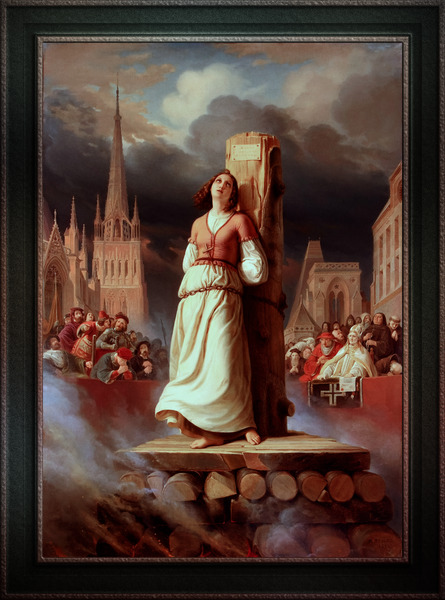 Joan of Arcs Death at the Stake by Hermann Stilke Classical Art Xzendor7 Old Masters Reproductions by xzendor7