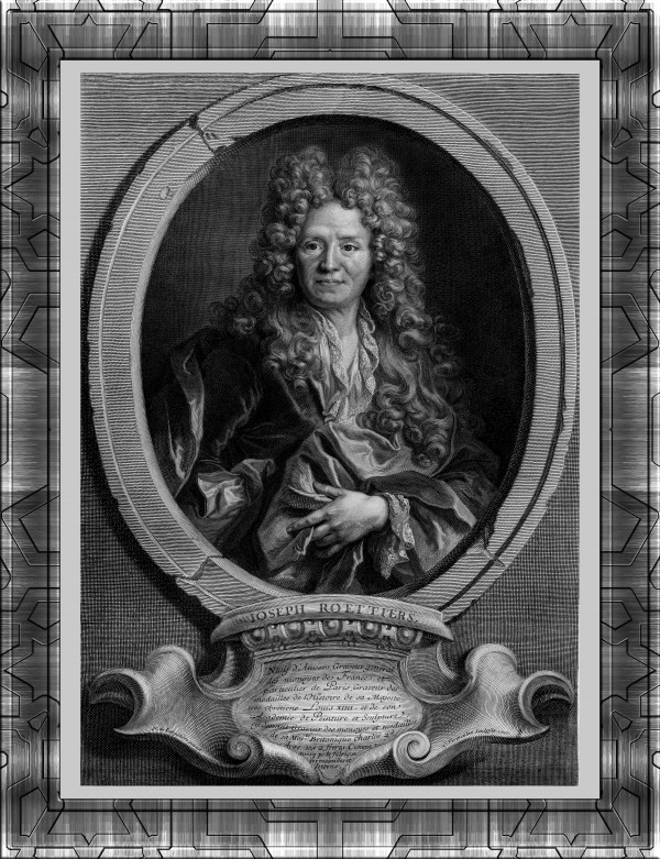 Joseph Roettiers by French Engraver Cornelis Vermeulen Fine Art Old Masters Reproduction by xzendor7
