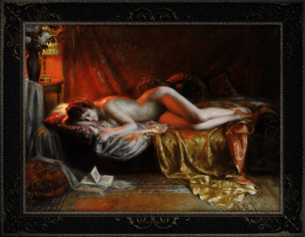 Just Finishing Reading A Novel by Delphin Enjolras Classical Art Xzendor7 Old Masters Reproductions by xzendor7
