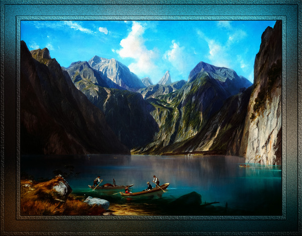 Konigsee c1873 by Willibald Wex Classical Fine Art Xzendor7 Old Masters Reproductions by xzendor7