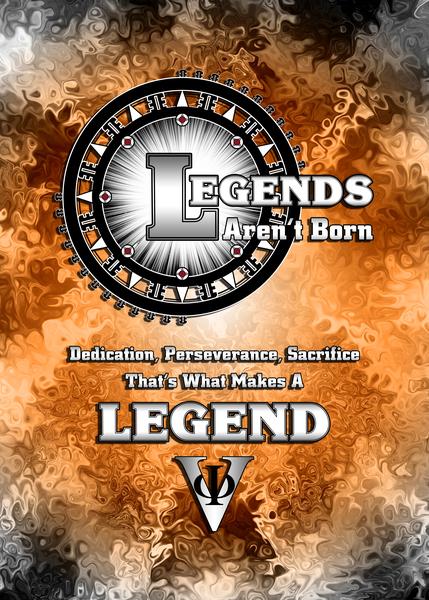 LEGENDS Aren t Born Typography Graphic Design by xzendor7
