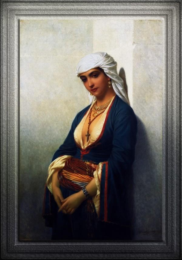 La Fidele by Emile Lecomte-Vernet Classical Fine Art Old Masters Reproduction by xzendor7
