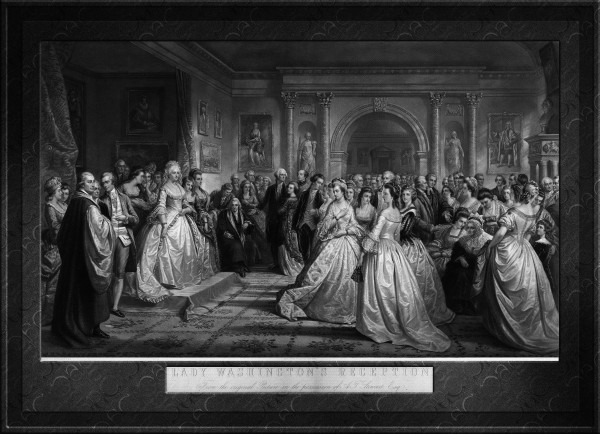 Lady Washingtons Reception Engraving by Alexander Hay Ritchie Classical Fine Art Old Masters Reproduction by xzendor7