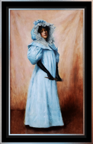 Lady In Blue by Maxime Dastugue Classical Fine Art Old Masters Reproduction by xzendor7