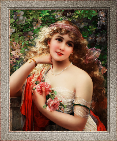 Le Printemps by Emile Vernon Old Masters Classical Art Reproduction by xzendor7