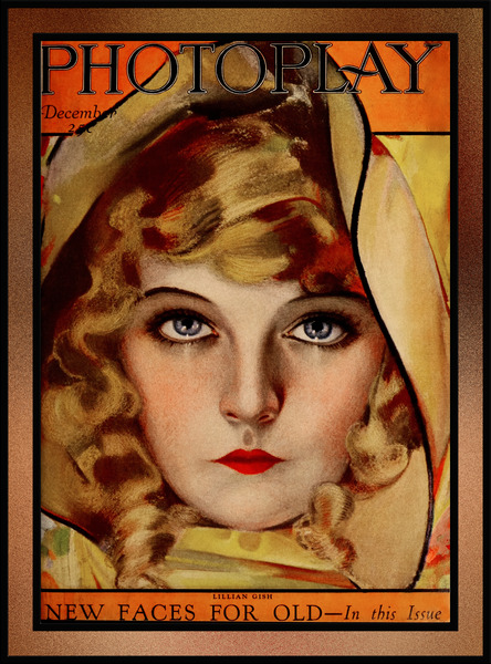 Lillian Gish Photoplay Magazine December 1921 by Rolf Armstrong Pin-Up Girl Vintage Artwork by xzendor7