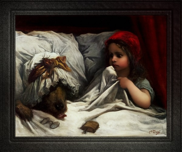 Little Red Riding Hood by Gustave Dore Old Masters Fine Art Reproduction by xzendor7