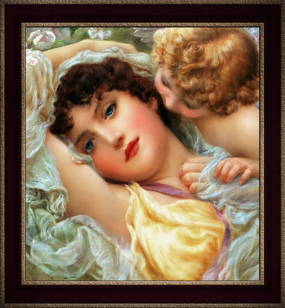 Love Whispers by Norman Prescott-Davies Vintage Wall Decor Xzendor7 Old Masters Art Reproductions by xzendor7