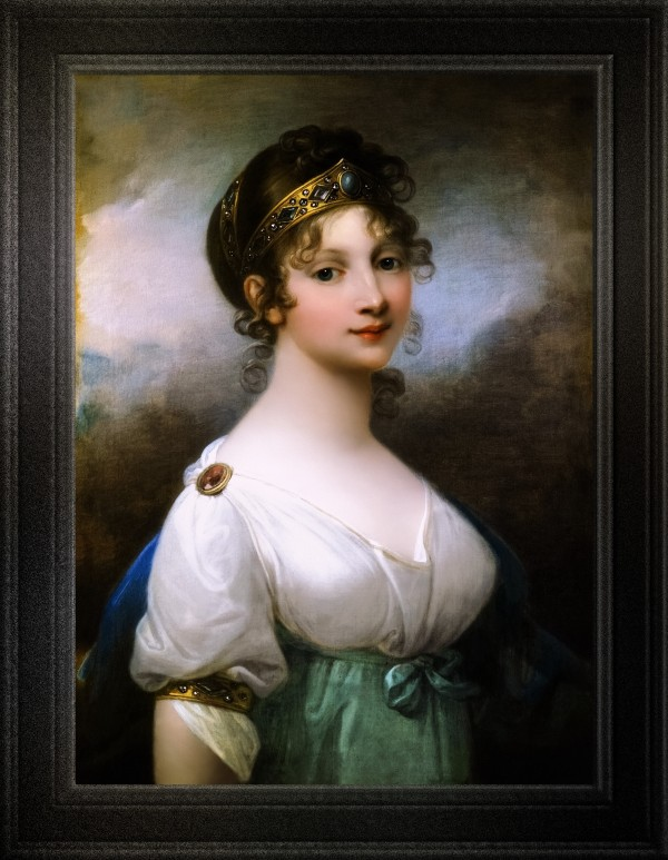 Portrait of Louise of Mecklenburg-Strelitz Queen of Prussia by Josef Grassi Fine Art Old Masters Reproduction by xzendor7
