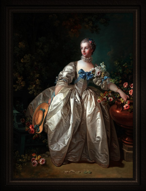 Madame Bergeret by Francois Boucher Old Masters Classical Art Reproduction by xzendor7