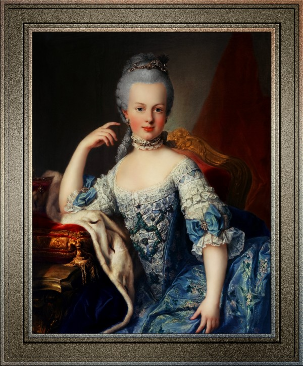 Maria Antoniette of Austria by Martin van Meytens Classical Fine Art Old Masters Reproduction by xzendor7