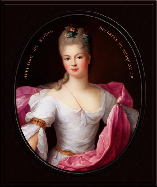 Marie Adelaide de Savoie Duchesse de Bourgogne byPierre Gobert Classical Art Xzendor7 Old Masters Reproductions by xzendor7