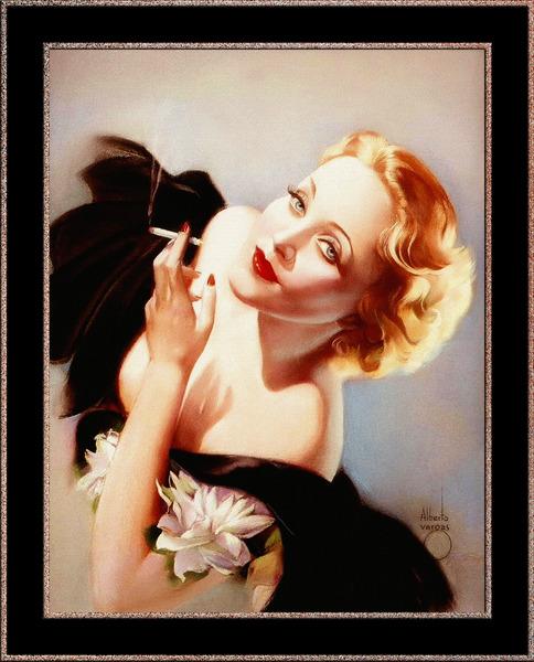 Marlene Dietrich Poses For Alberto Vargas Pin-Up Girl Vintage Artwork by xzendor7