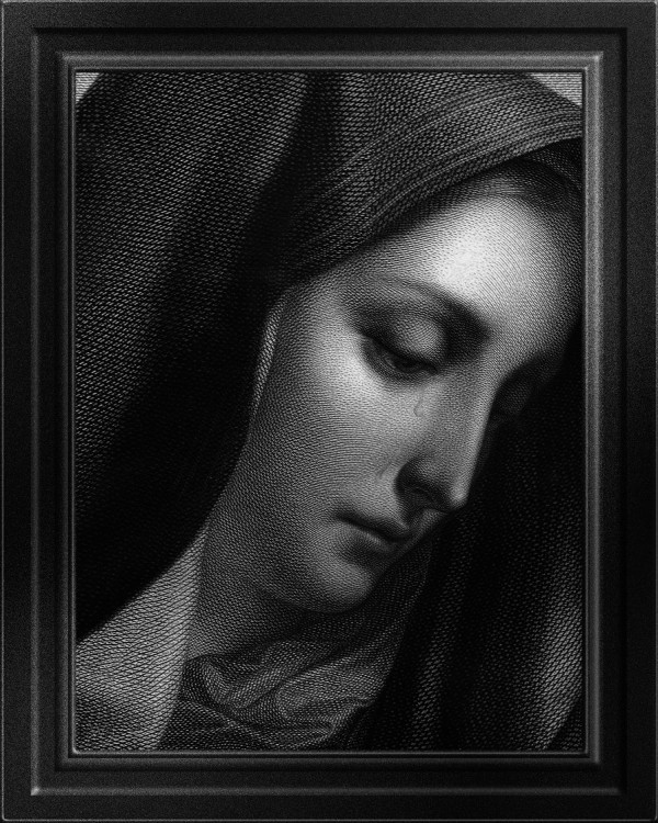 Mater Dolorosa Engraving After A Painting by Carlo DolciOld Masters Classical Fine Art Portrait Reproduction by xzendor7