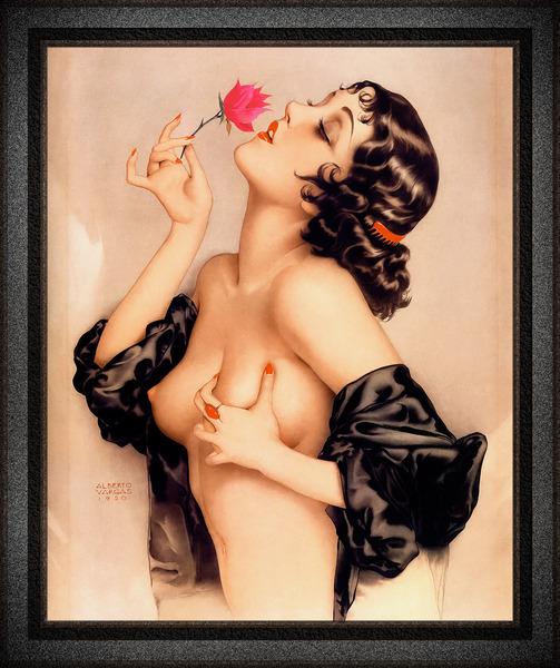Memories of Olive by Alberto Vargas Pin-Up Girl Vintage Art by xzendor7