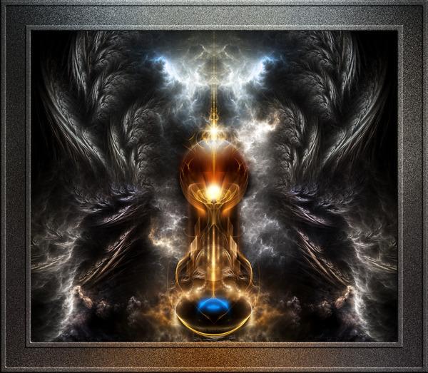 Orb Of Light Winged Fantasy Fractal Art by xzendor7