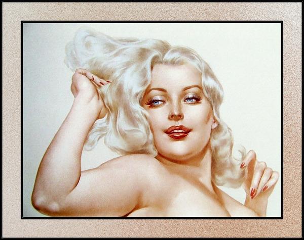 Voluptuous Platinum Blonde by Alberto Vargas Pin-Up Girl Vintage Artwork by xzendor7