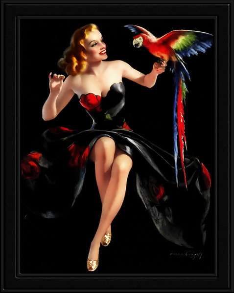 Polly Wants A Cracker by Bradshaw Crandell Vintage Xzendor7 Old Masters Art Deco Reproductions by xzendor7