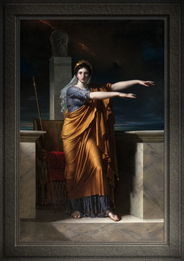 Polyhymnia Muse of Eloquence by Charles Meynier Old Masters Classical Fine Art Portrait Reproduction by xzendor7