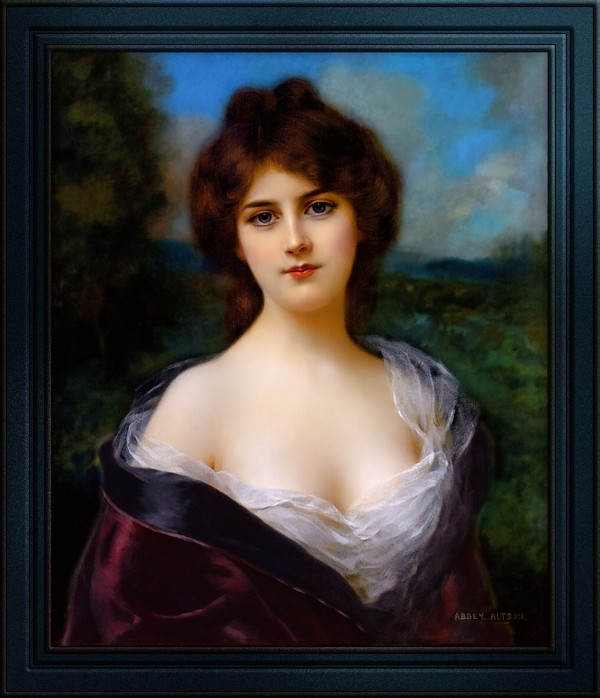 Portrait Of A Lady In The Countryside by Abbey Abraham Altson by xzendor7