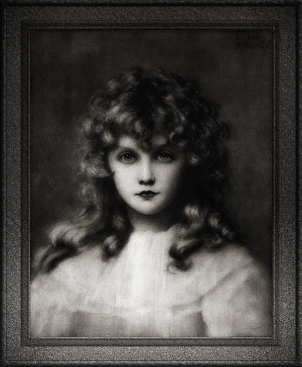 Portrait Of A Young Girl by Ellis William Roberts Classical Art Reproduction by xzendor7
