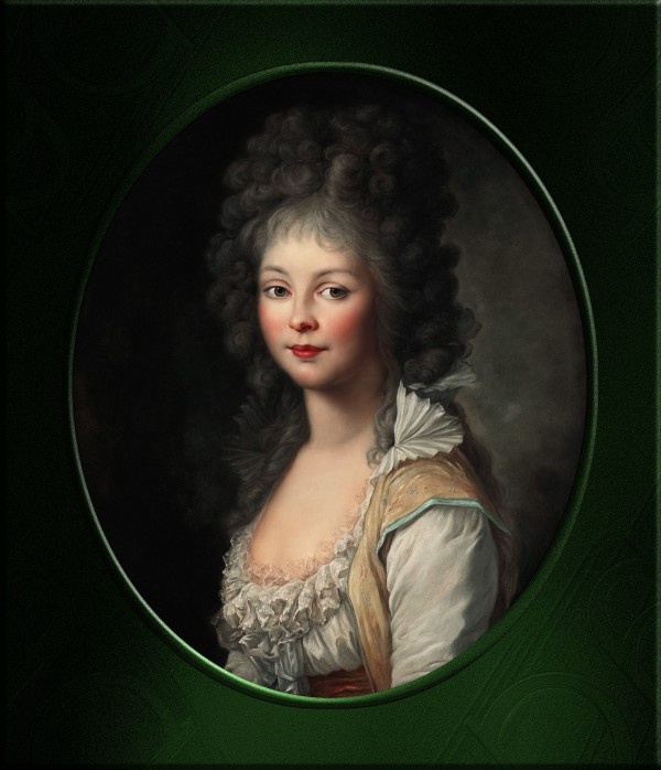 Portrait Of A Young Lady by Johann Friedrich August Tischbein Classical Fine Art Old Masters Reproduction by xzendor7