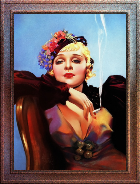 Portrait Of Anna Sten by Alberto Vargas Pin-Up Girl Vintage Art by xzendor7