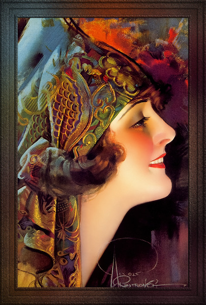 Portrait Of Martha Mansfield by Rolf Armstrong Vintage Xzendor7 Old Masters Art Nouveau Reproductions by xzendor7
