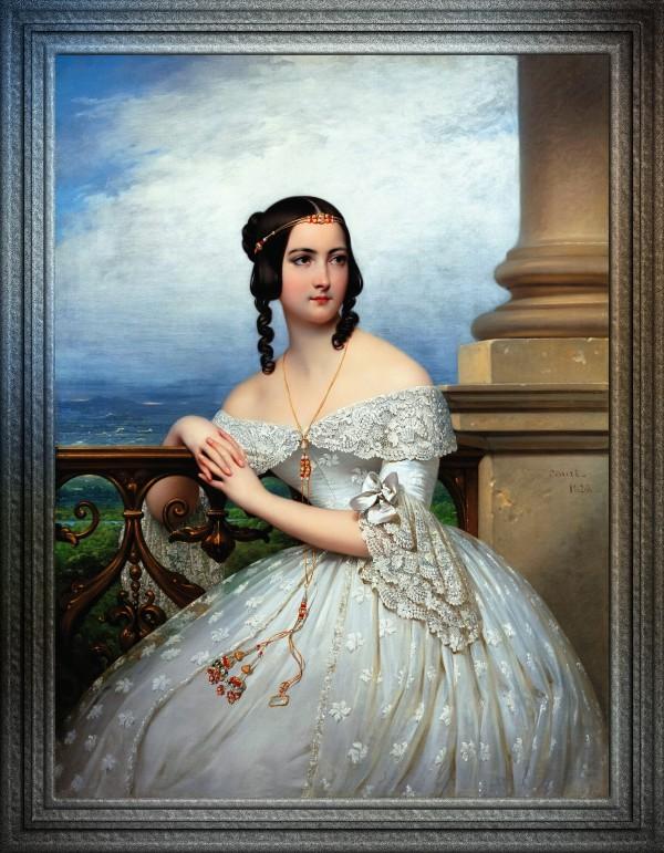 Portrait Of Miss White by Joseph Desire Court Classical Fine Art Reproduction by xzendor7