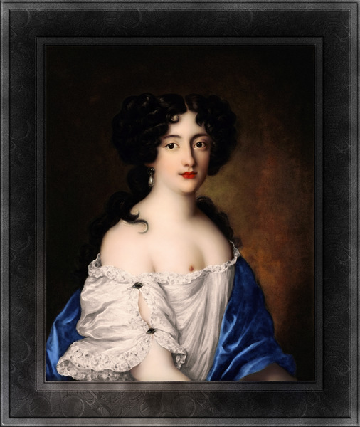 Portrait of Hortense Mancini by Jacob Ferdinand Voet Classical Fine Art Xzendor7 Old Masters Reproductions by xzendor7