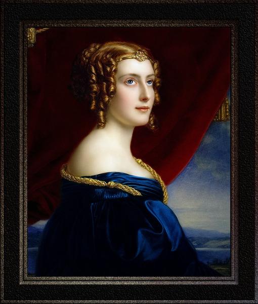 Portrait of Lady Jane Ellenborough by Joseph Karl Stieler Classical Fine Art Xzendor7 Old Masters Reproductions by xzendor7