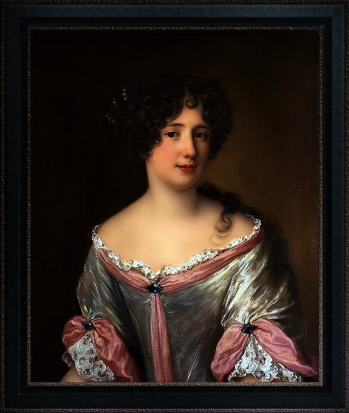 Portrait of Maria Mancini by Jacob Ferdinand Voet Classical Fine Art Xzendor7 Old Masters Reproductions by xzendor7