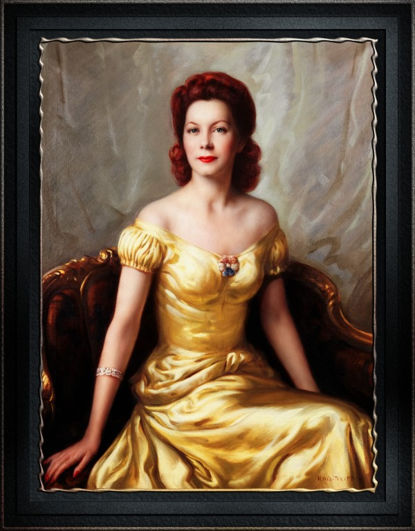Portrait Of A Lady by Nikolai Vasilievich Kharitonov Old Masters Classical Fine Art Reproduction by xzendor7