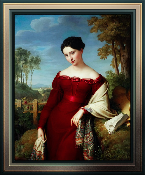Portrait of a Young Lady by Eduard Friedrich Leybold Classical Art Xzendor7 Old Masters Reproductions by xzendor7