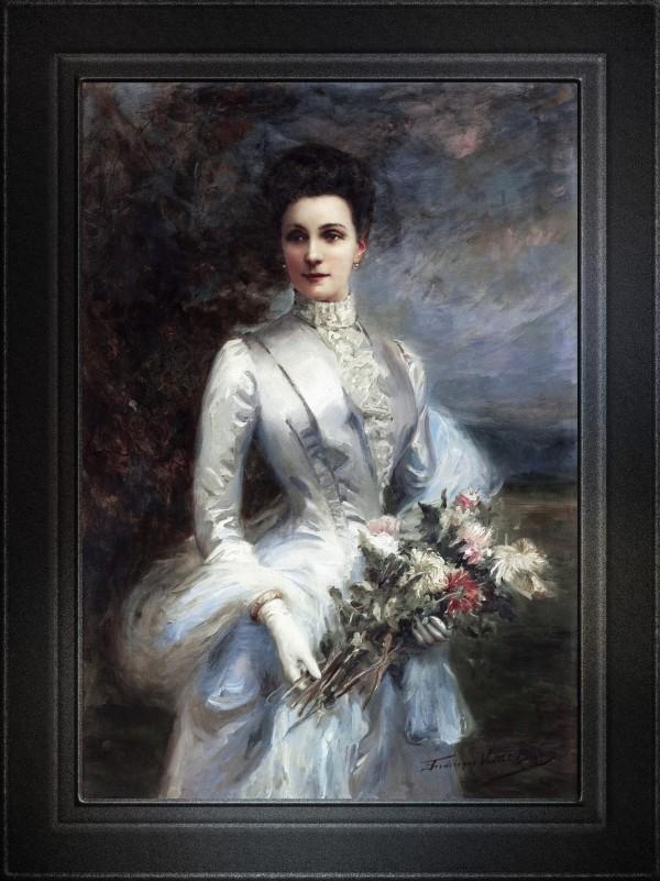 Portrait de Louise Elizabeth Laure de Bonneval by Frederique Vallet-Bisson Fine Art Old Masters Reproduction by xzendor7