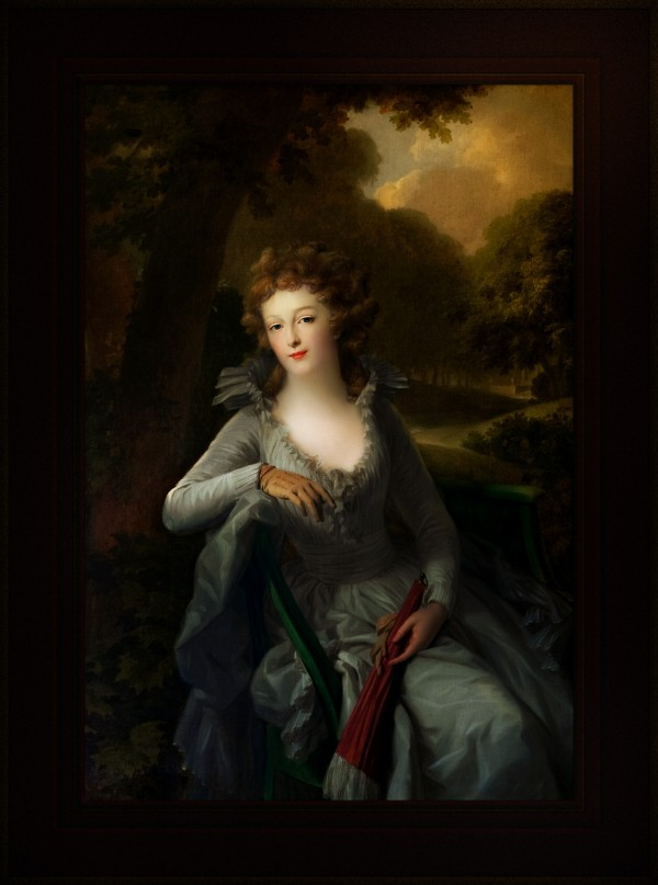 Portrait of Jacoba Margaretha Maria Boreel by Johann Friedrich August Tischbein Classical Fine Art Old Masters Reproduction by xzendor7