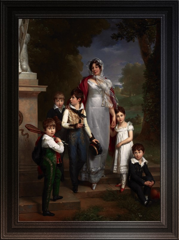 Louise-Antoinette-Scholastique Gueheneuc with her Children by Francois Pascal Simon Gerard Old Masters Classical Fine Art Reproduction by xzendor7
