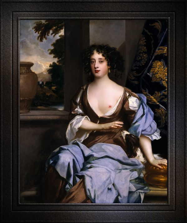 Portrait of Margret Hughes by Peter Lely Old Masters Classical Fine Art Reproduction by xzendor7