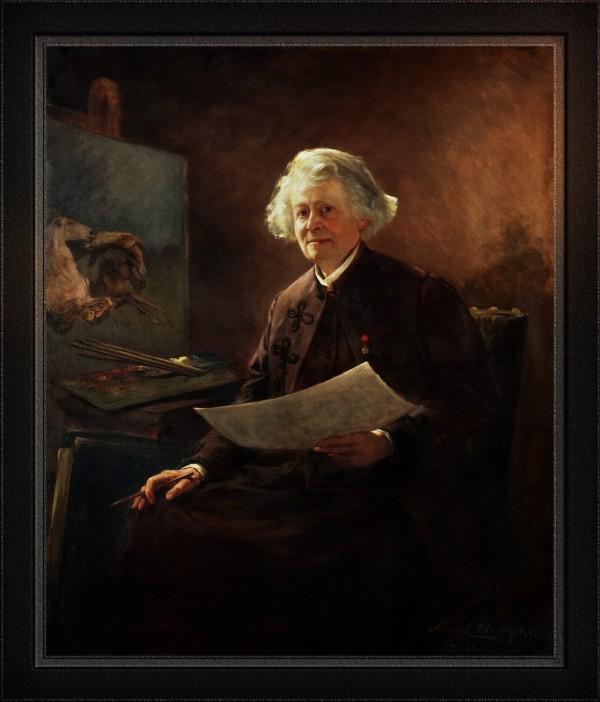 Portrait of Rosa Bonheur by Anna Elizabeth Klumpke Classical Fine Art Reproduction by xzendor7