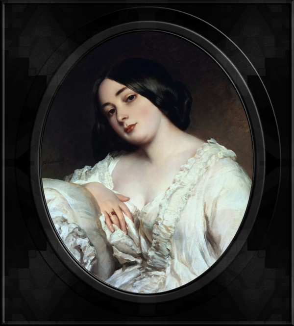 Portrait of a Lady by Franz Xaver Winterhalter Old Masters Classical Art Portrait Reproduction by xzendor7